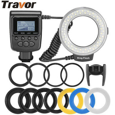 Macro 48 LED Ring Flash RF-550D For For Nikon or Canon/Olympus/Sony HDMI DSLR UK