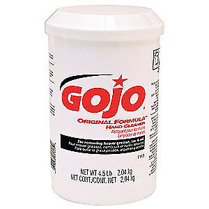 GOJO Hand Cleaner,Cream,Unscented,4.5 lb.,PK6, 1115-06, White Opaque