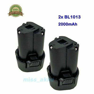 2x 10.8 Volt Li-ion Batteria per Makita BL1013 194551-4 194550-6 Al litio 2.0Ah