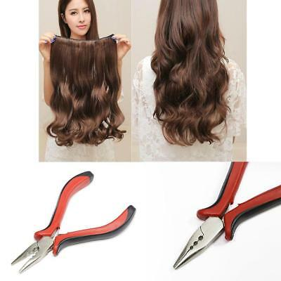 Hair Extensions Multi Function Pliers For Use With Nano Rings Pre-Bonded Hair