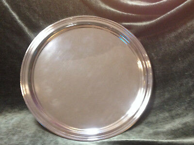 """Tiffany & Co Sterling Silver Round 11"""" Charger plate 20 oz. Antique no monogram"""