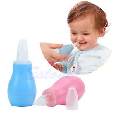 New Baby Newborns Nasal Vacuum Mucus Suction Aspirator Soft Tip Nose Cleaner