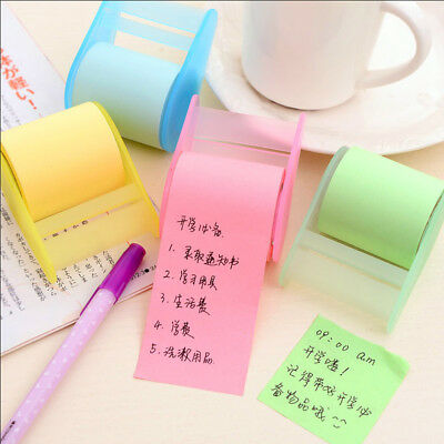 1pcs Kawaii Fluorescent Paper Sticker Memo Pad Mini Office Can Tear Sticky Notes