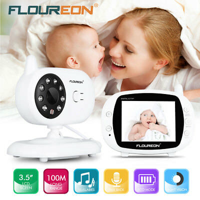 2.4'' LCD Wireless Baby Monitor Video Security Camera 2 Way Audio Night Vision