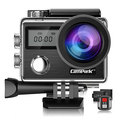 Campark Action Camera 4K 20MP Touch Screen Waterproof Sports Cam Remote Control