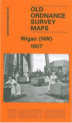 Old Ordnance Survey Map Wigan Nw 1907 Gidlow Works Beech Hill Avenue