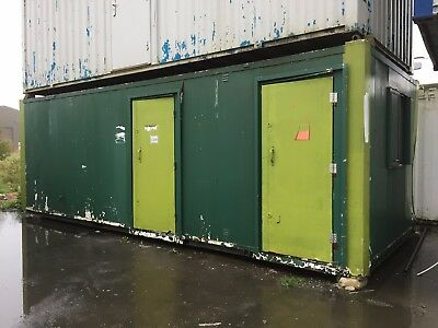 Portable Toilet, Site Office, Changing Room, Steel Cabin, 24 x 10 (1326)