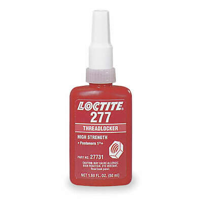 LOCTITE Threadlocker 277,250mL Bottle,Red, 27741