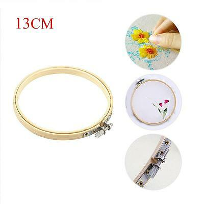Wooden Cross Stitch Machine Embroidery Hoops Ring Bamboo Sewing Tools 13CM H#