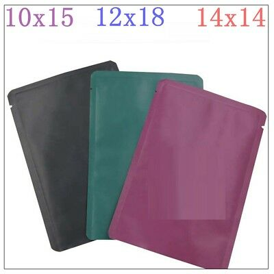 100 Pcs Matte Aluminum Stand Up Self Sealing Envelope Shipping Food Mask Bags