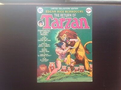 DC Limited Collectors Edition C-29 Return of Tarzan VG+ w/ Pin-up