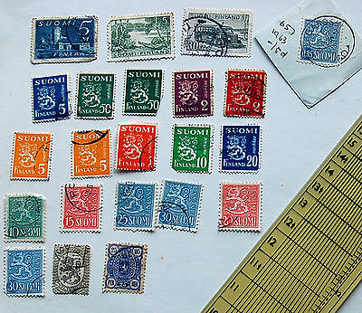Mixed Set 22 Of Stamps Finland From 5 to 50 Suomi See Photos Lot 36