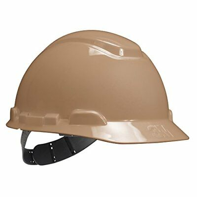HDPE Natural Tan Full Brim Hard Hat with Fas-trac Suspension Protective Gear New