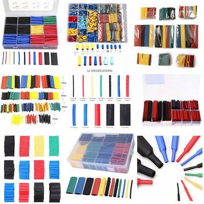 530Pcs 5 Color 8 Size 2:1 Heat Shrink Tubing Tube Sleeving Wrap Cable Wire