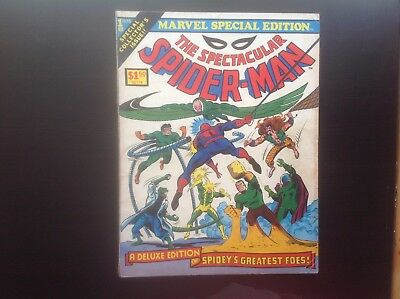 Marvel Special Edition The Spectacular Spider-Man #1 1975 GD Treasury Comic Book