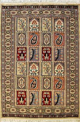 Rugstc 3x5 Pak Persian Gold Area Rug, Hand-Knotted,Bakhtiari with Wool Pile