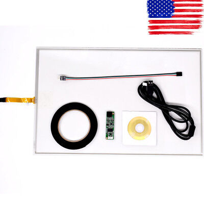 "19inch 4 Wire Resistive Touch Screen Panel USB Kit For 19"" LCD Monitor 276x426m"