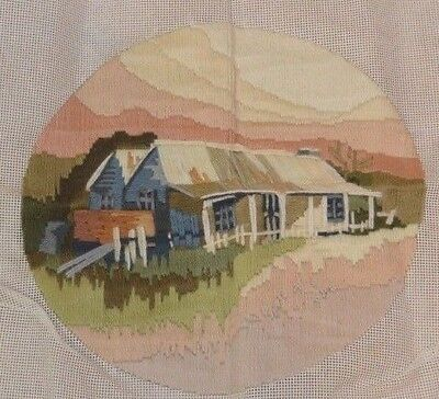 Completed Longstitch Sunny Cottage Garden Homestead Country Embroidery Tapestry