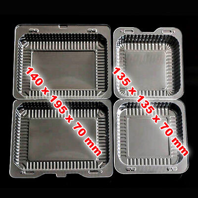 Plastic Disposable Clear Box For Food, Cake, Muffin, Pastry, Salad (10-300 pcs)