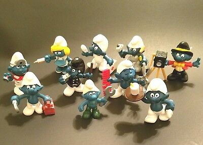 Collectible Career Smurf Set - 10 Pack Variety