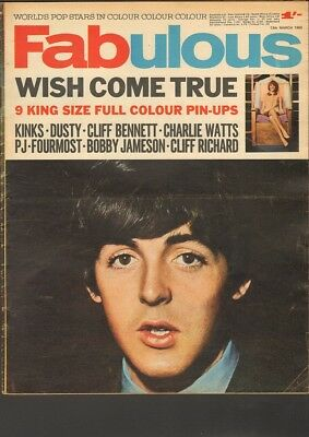 FABULOUS 1965 Paul McCartney KINKS P.J. PROBY Fourmost CLIFF Dusty Springfield