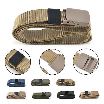 8 Color Military Plastic Buckle Waist Belt Men&Women Fashion Nylon Classic