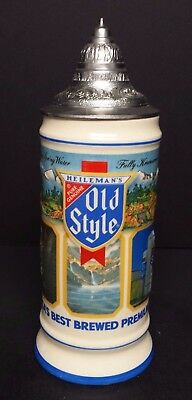 1987 Old Style Best Brewed Beer lidded stein