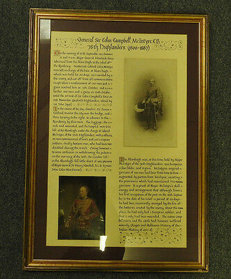 Military Photograph Of General Sir Colin Campbell McIntyre 78th Highlanders(4332