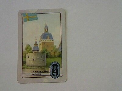 """1 Single Swap/Playing Card - Coles Olympic Series """"Sweden Kalmar Castle"""""""