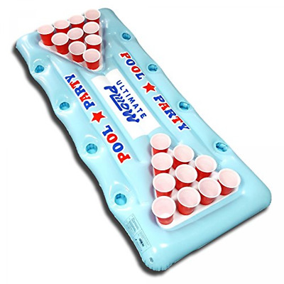 Ultimate Plilow Giant Blow Up Inflatable Beer Pong Pool Party Table Amazing Lil