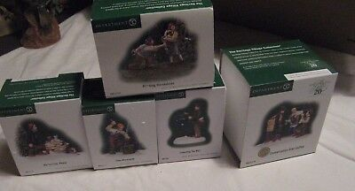 Department 56 New England Conversation Over Coffee, Blacksmith,Horseshoes,Mail &