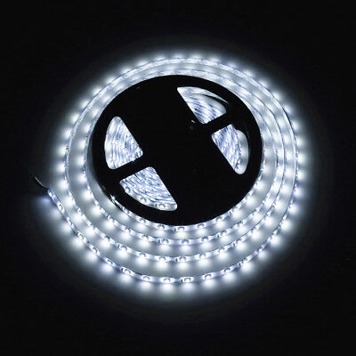 12V 5m Flexible White LED Strip Lights Waterproof 3528 SMD 300 LEDs For Car Boat