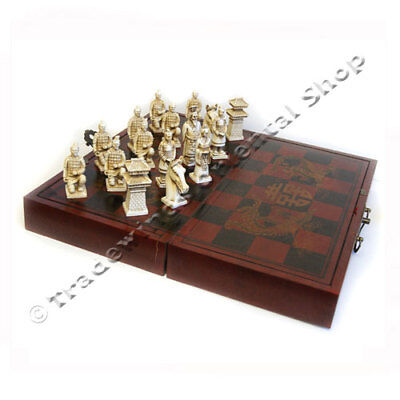 Wooden Chinese Carved Chess Set