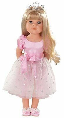 "Gotz Hannah Princess 19.5"" Blonde Poseable Doll with Blue Eyes and Additional..."