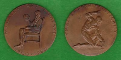 "LARGE 2 3/4"" MEDAL MEDALLIC ART CO. 60th ANNIVERSARY 1900 - 1960  ---  QDNG"