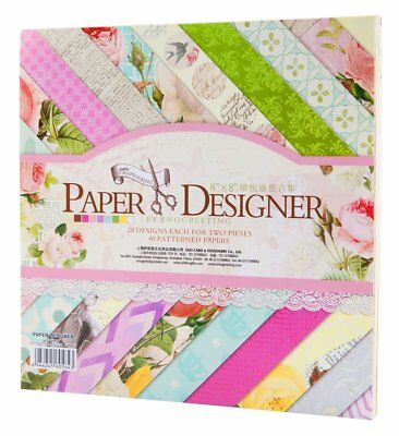 "FaCraft Scrapbook Paper Designer,40 Sheets 8x8"" Collection Paper Decorations"