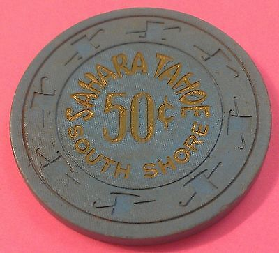 Vintage South Tahoe ~ 50 Cent Casino Chip ~ South Shore ~Lake Tahoe, Nv ~ 1970's