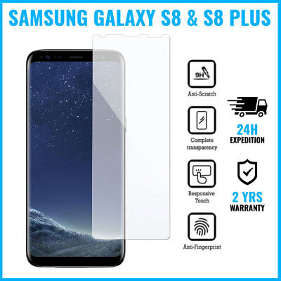 Screen Protector Tempered Glass Film For Samsung Galaxy S8 & S8 Plus NO BORDERS