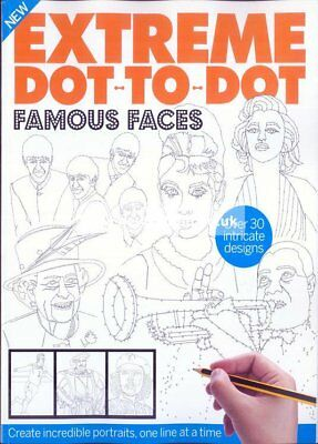 Extreme Dot-to-Dot: FAMOUS FACES # ADULT intricate puzzles # Therapy Art Fun NEW