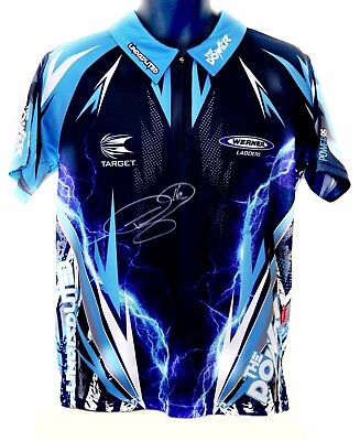 "*New* Phil ""The Power"" Taylor Hand Signed Replica Darts Shirt"