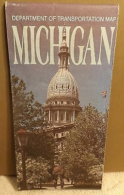 MICHIGAN MAP by DEPARTMENT OF TRANSPORTATION  1990