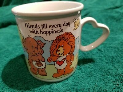"care bear cousins mug ""friends fill every day with happiness"""