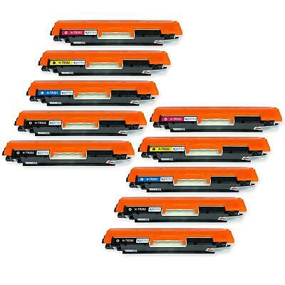 10 Toner Cartridges to replace HP CF350A, CF351A, CF352A, CF353A (130A) non-OEM