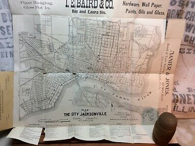 Antique 1900 Map Of The City Of Jacksonville Florida