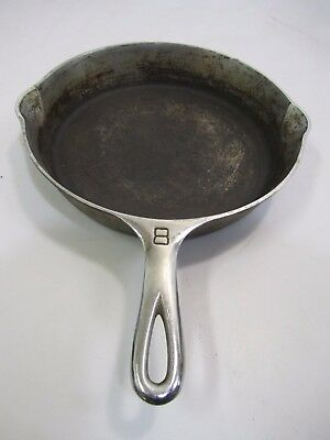 Vtg Antique GRISWOLD #8 704C Cast Iron Chrome Plated Skillet Frying Pan PA USA
