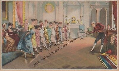 Victorian Trade Card-Wood's Ladies Blacking-Boston, MA-Women in Colonial Dress