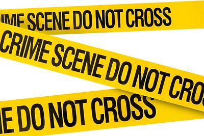 Crime Scene Do Not Cross Barricade Tape 3 X 100 • Bright Yellow with a bold B...
