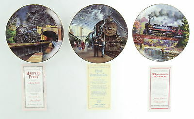 Lot Of 3  Assorted Railroad  Hamilton Collection plates