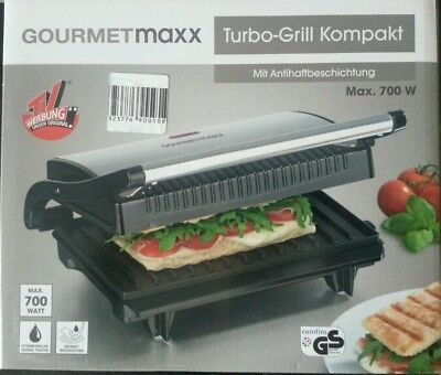 gourmetmaxx 09898 turbo kontaktgrill panini maker grill 700 watt rh45n4723m18 eur 19 90. Black Bedroom Furniture Sets. Home Design Ideas