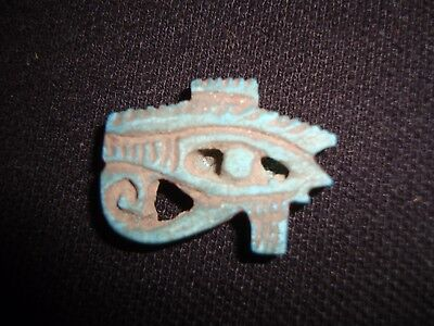 Rare Ancient Egyptian Faience Eye of Horus Amulet New Kingdom (1549–1069 BC)